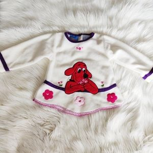 Vintage Clifford the Big Red Dog Fleece Sweater